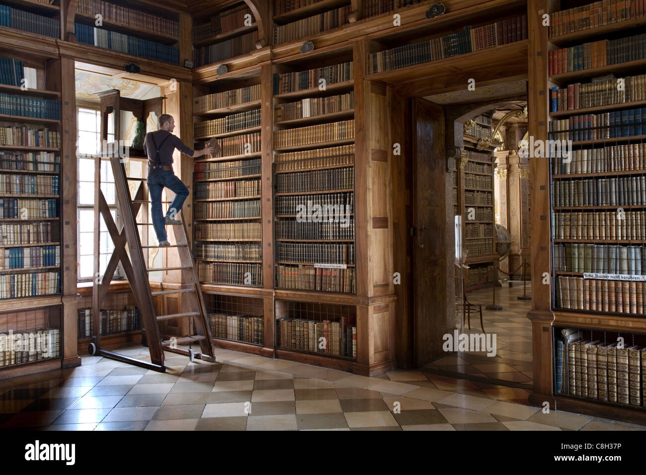 Library Ladder Stock Photos  Library Ladder Stock Images-8906