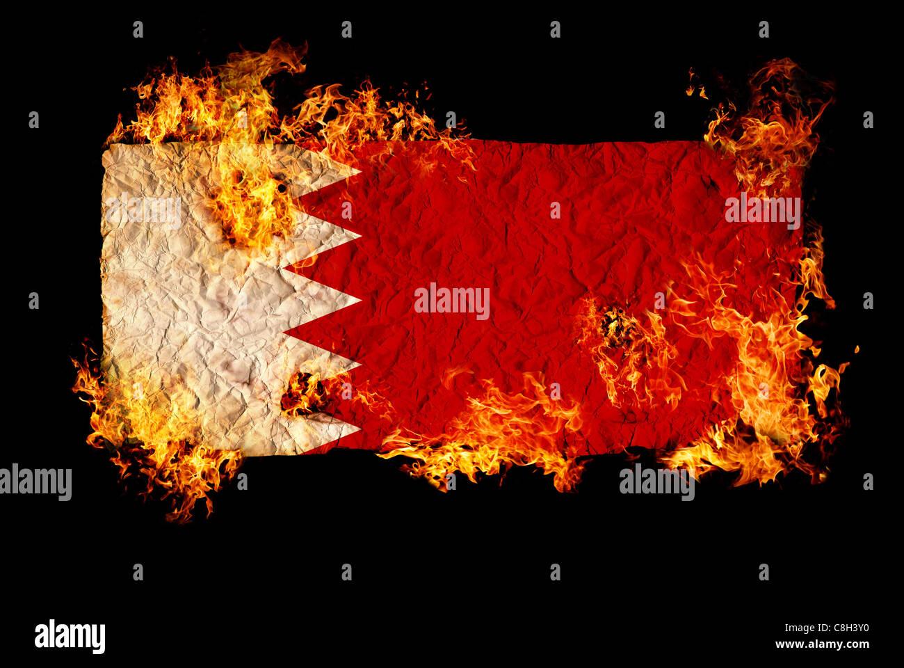 Bahrain National Flag Stock Photos Bahrain National Flag Stock