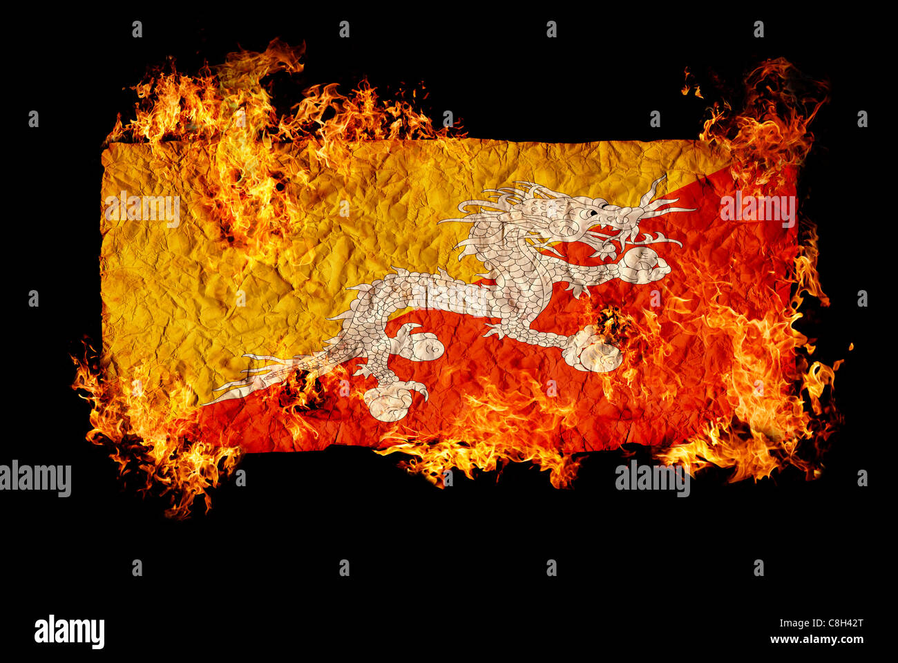 National Symbols Flag Bhutan Stock Photos National Symbols Flag