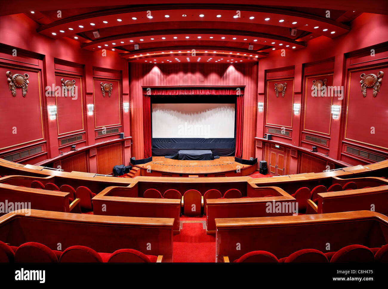 The central hall of Olympion cinema where the major event of the International Film Festival of Thessaloniki take - Stock Image