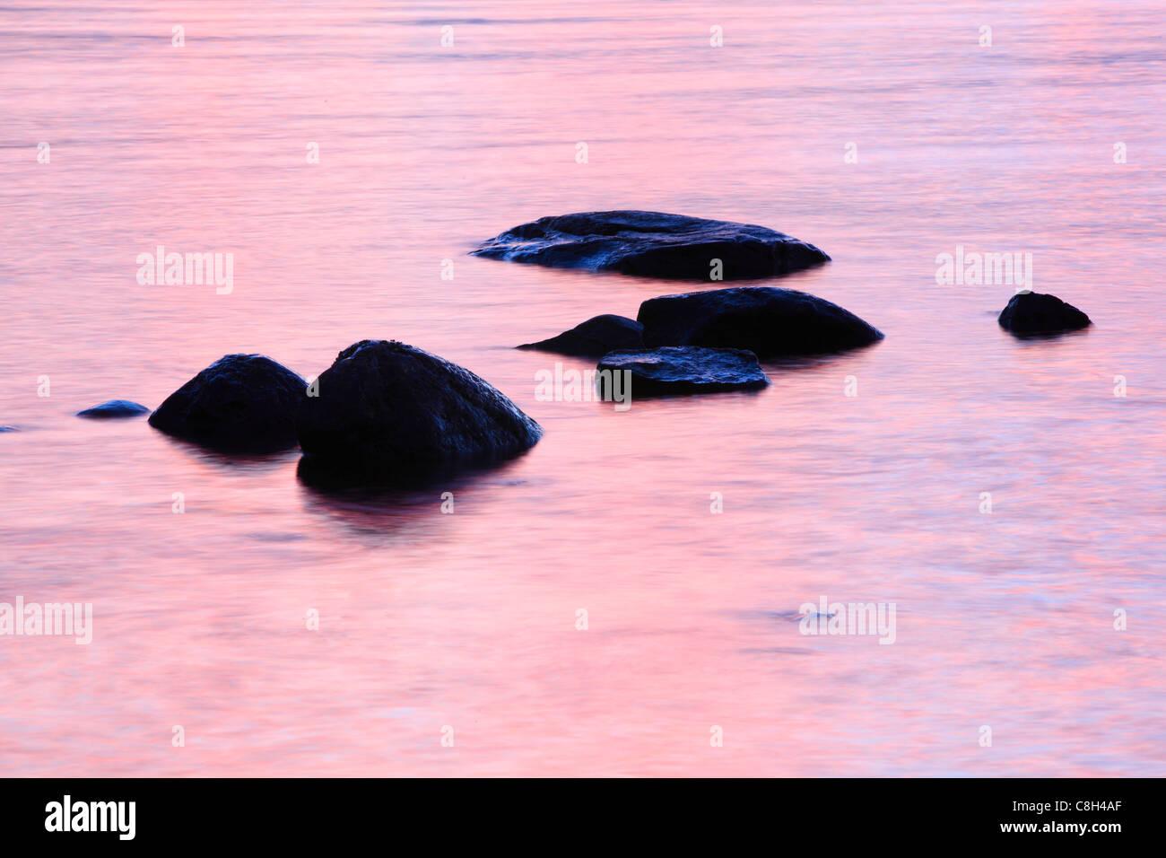 Detail, Cairngorms, national park, dusk, twilight, ice, cliff, rock, cliff, highlands, highland, living space, hole, - Stock Image
