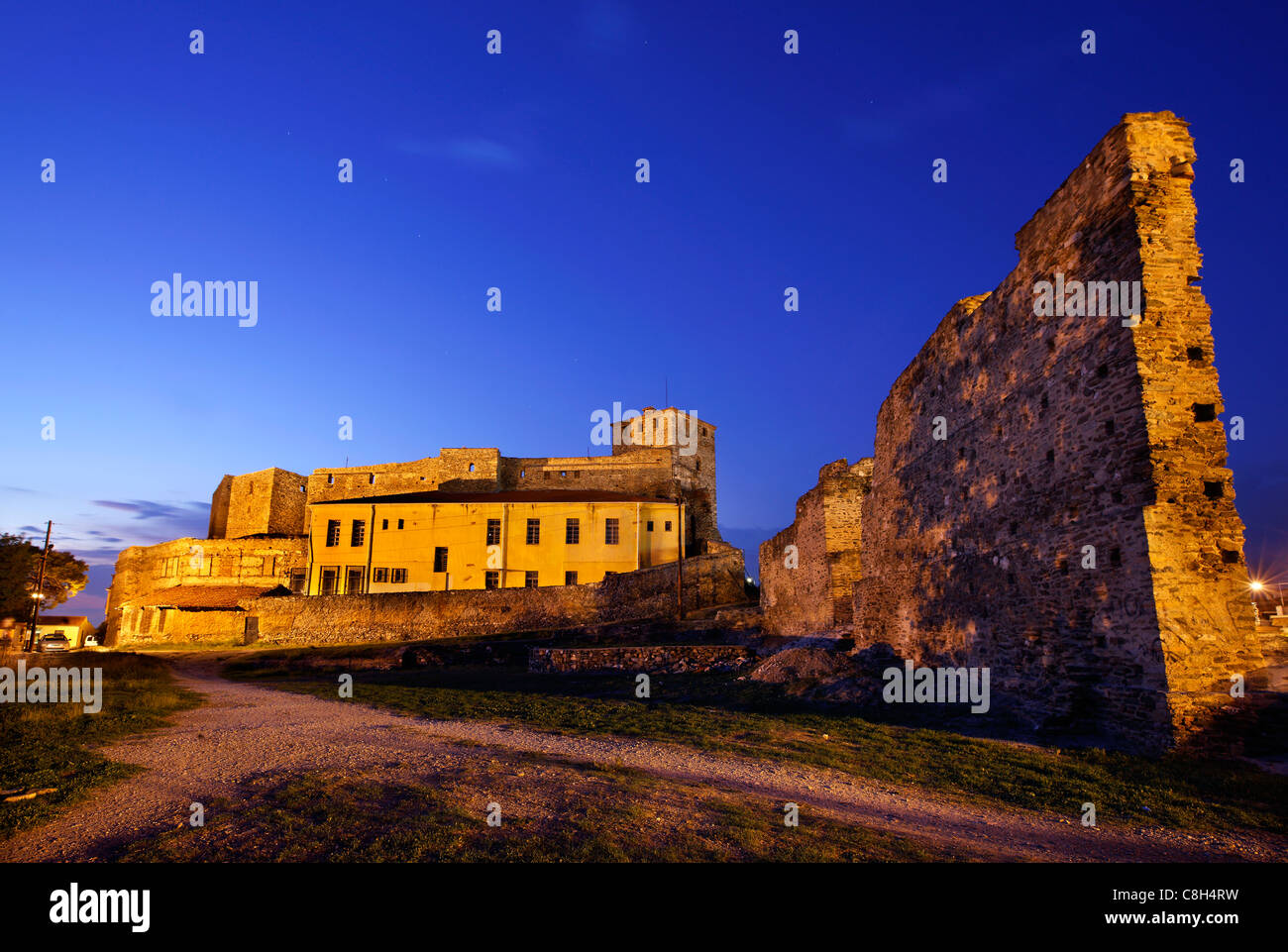 The 'Eptapyrgion' or 'Yedi Kule' (means 'Seven Towers' in Greek and Turkish), the byzantine - Stock Image