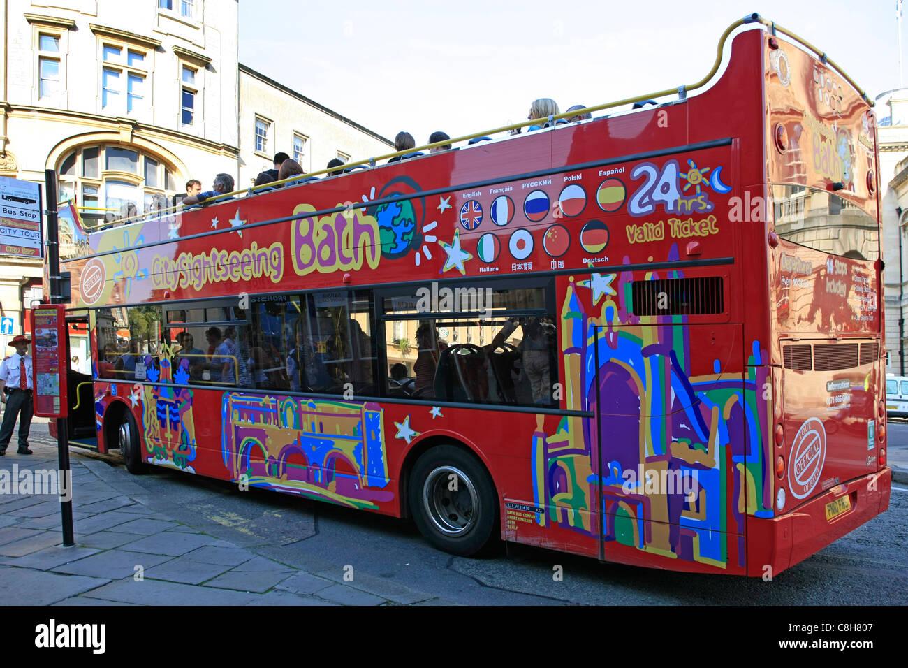 The City Sightseeing Bus in Bath Stock Photo