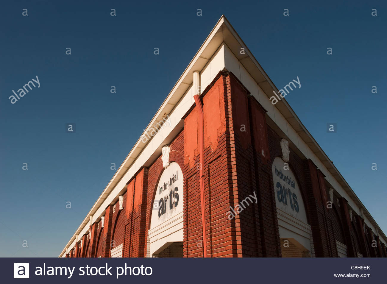 Exterior view of the Industrial Arts Building in Lincoln, NE. - Stock Image