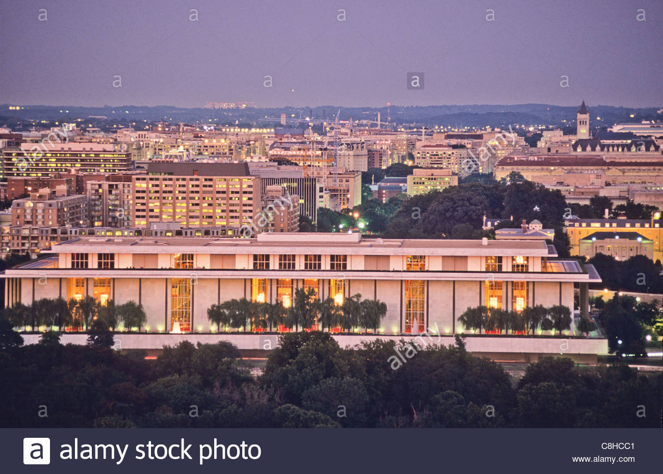 Air view of Kennedy Center for Performing Arts. - Stock Image