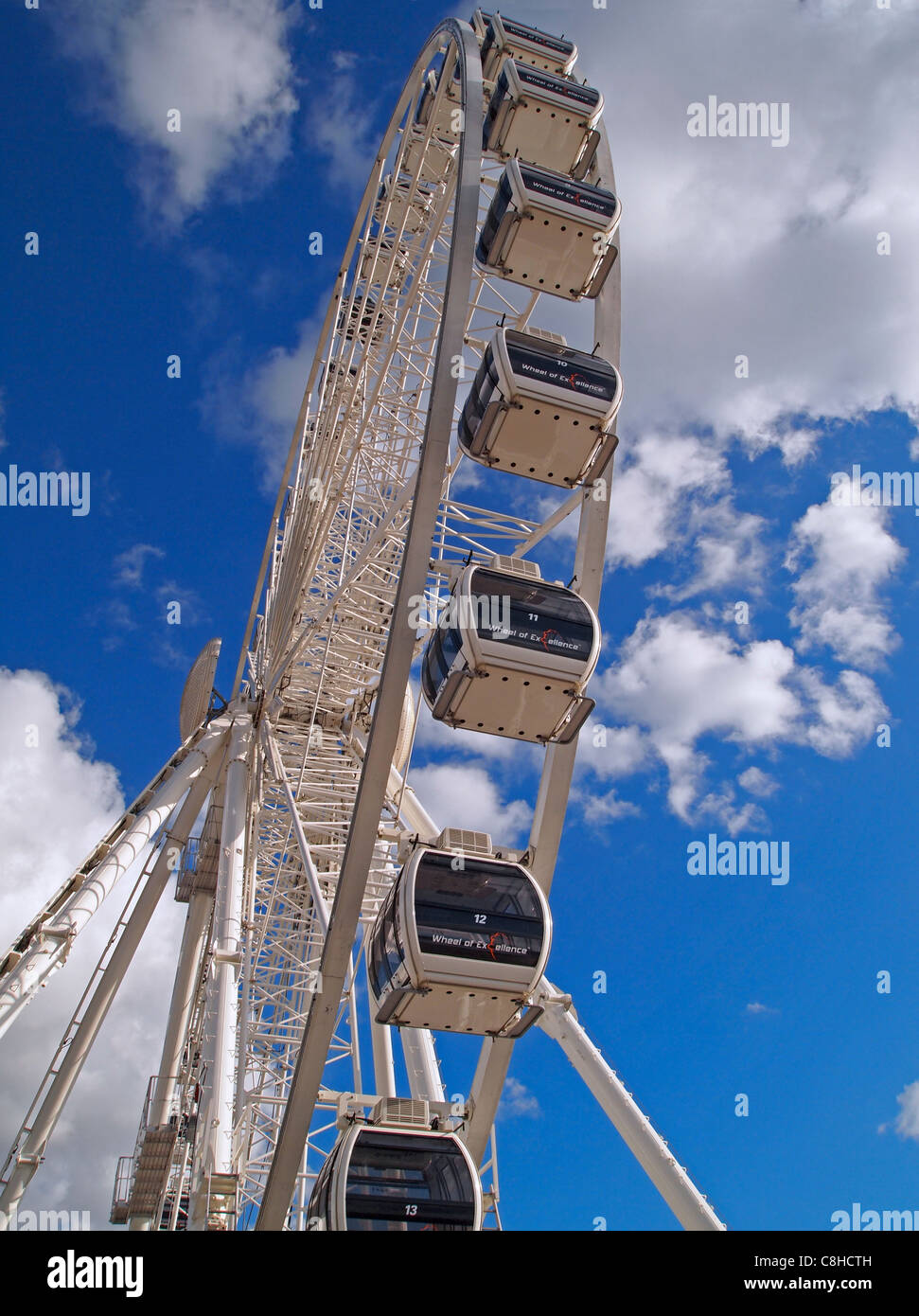 The Brighton Wheel - also known as 'The Wheel of Excellence' - a new attraction on Brighton's seafront - Stock Image