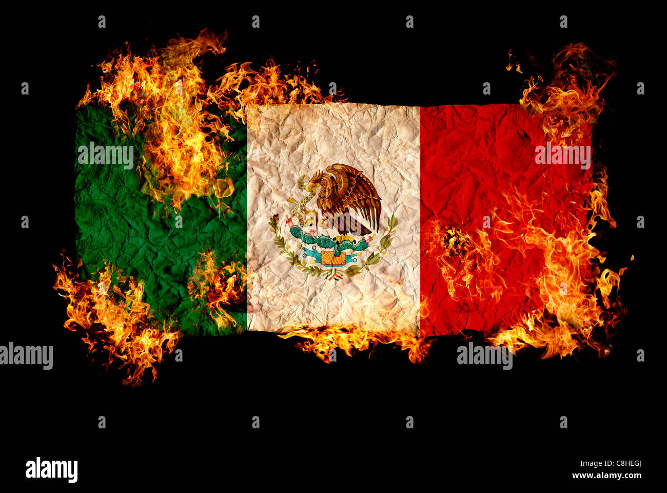 Mexico Flag Demonstration Stock Photos Mexico Flag Demonstration