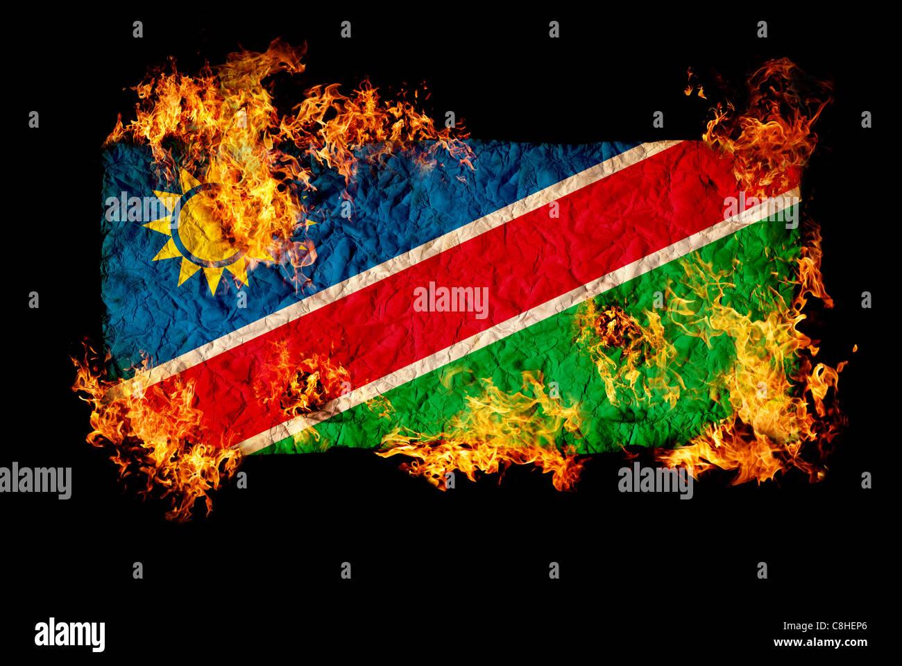National symbols and flag of Namibia Stock Photo: 39722766