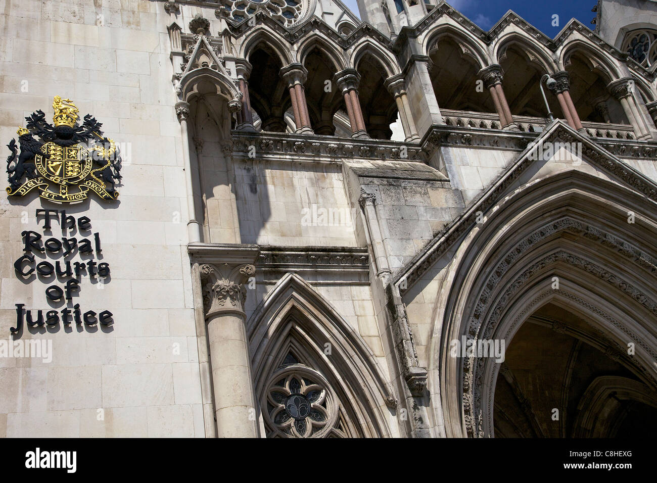 Royal Courts of Justice, City of London, England, UK, United Kingdom, GB, Great Britain, British Isles, Europe - Stock Image