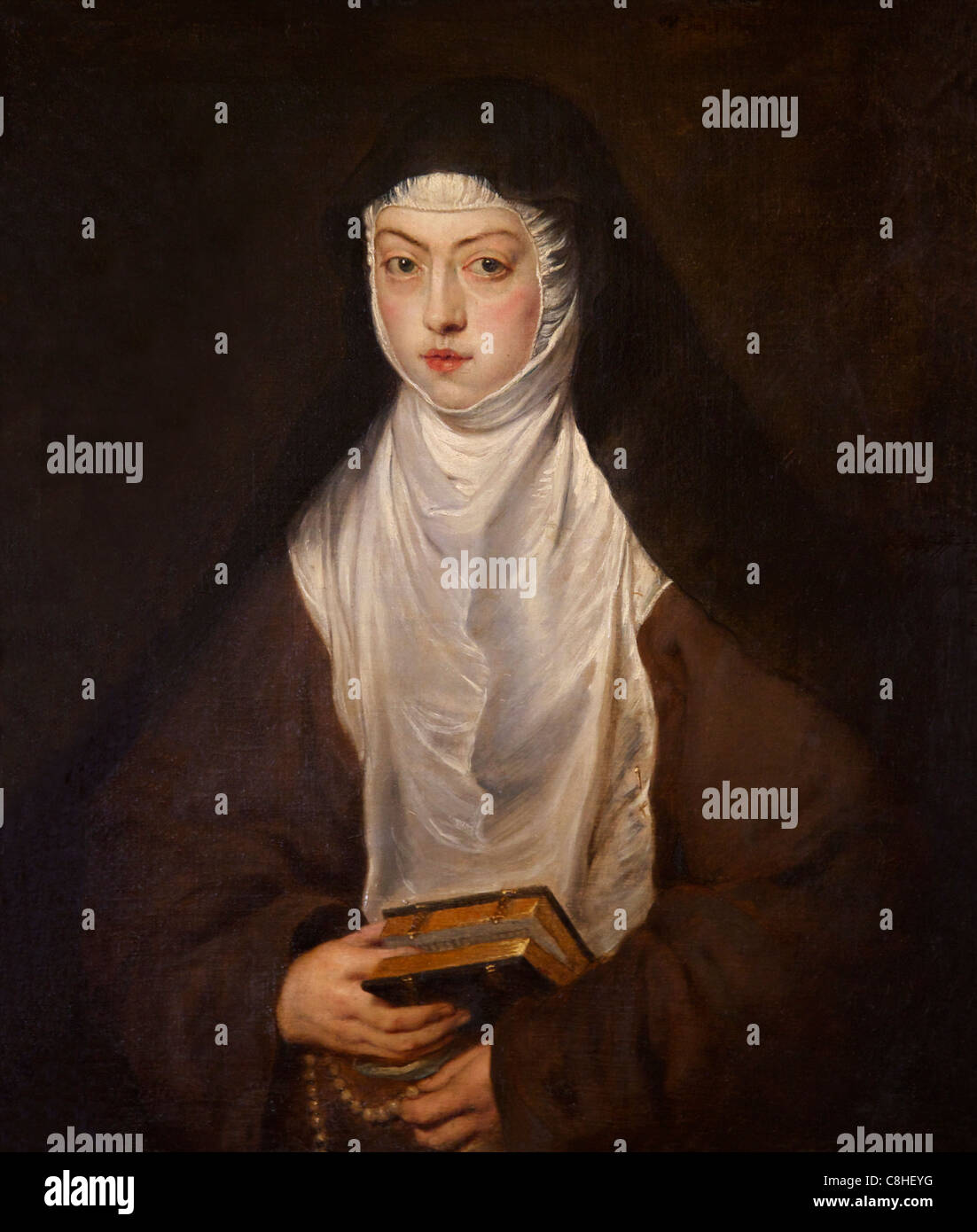 Ana Dorotea, Daughter of Rudolph II, a nun at the Convent of the Descalzas Reales, by Peter Paul Rubens, Waterloo - Stock Image