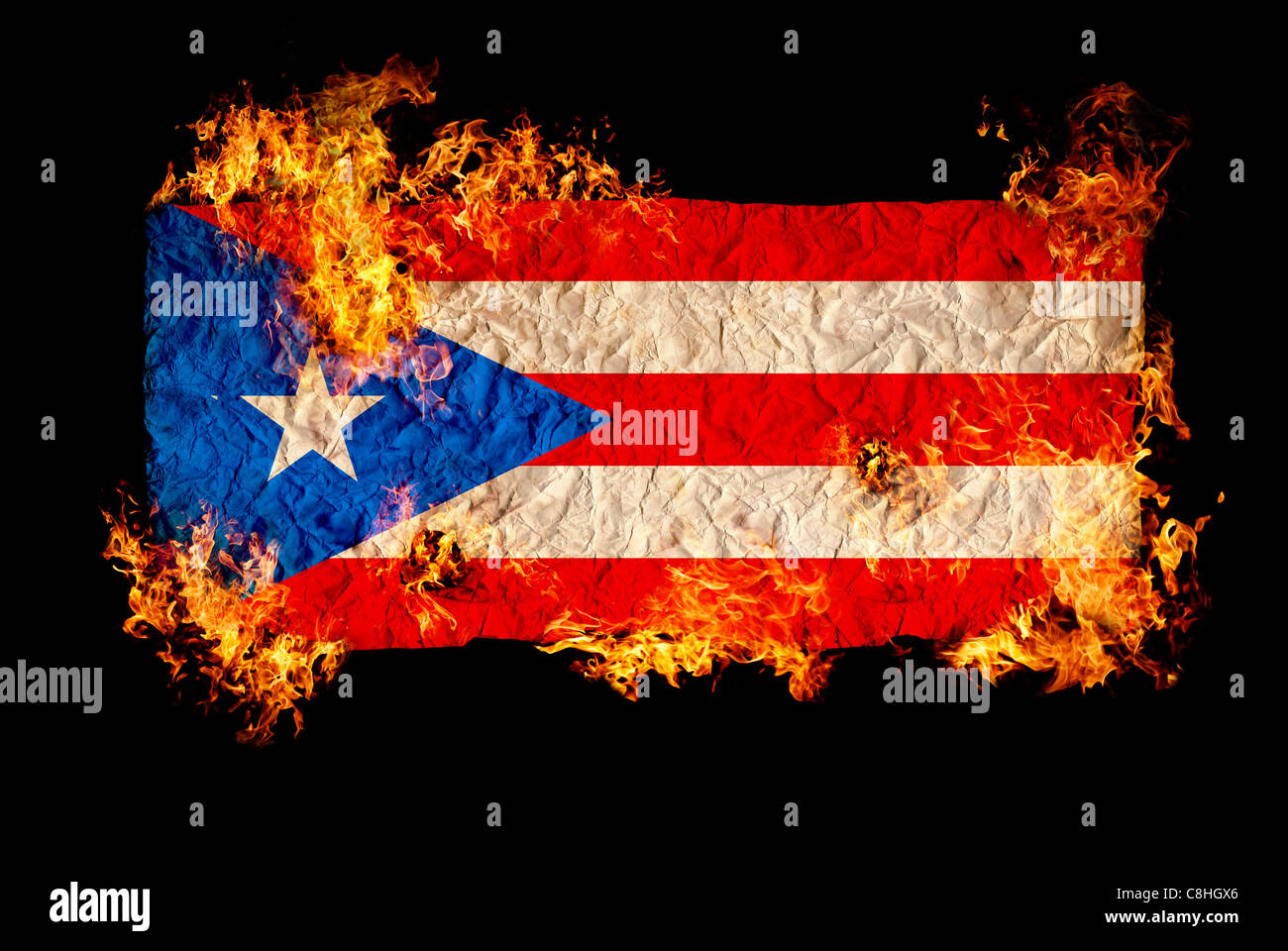 National Symbols And Flag Of Puerto Rico Stock Photo 39724446 Alamy