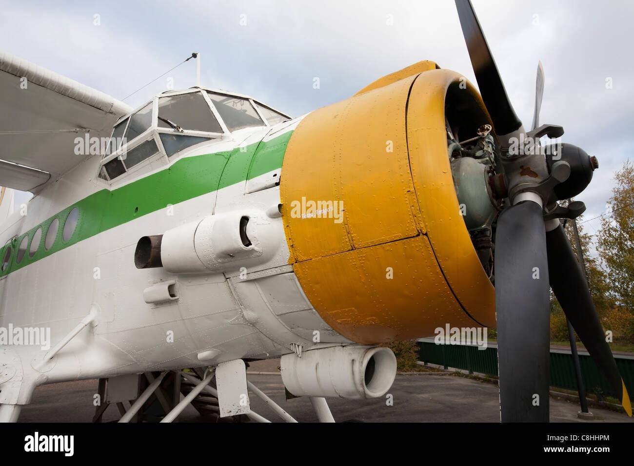 Antonov An-2 airplane on display in Utti Kouvola Finland - Stock Image