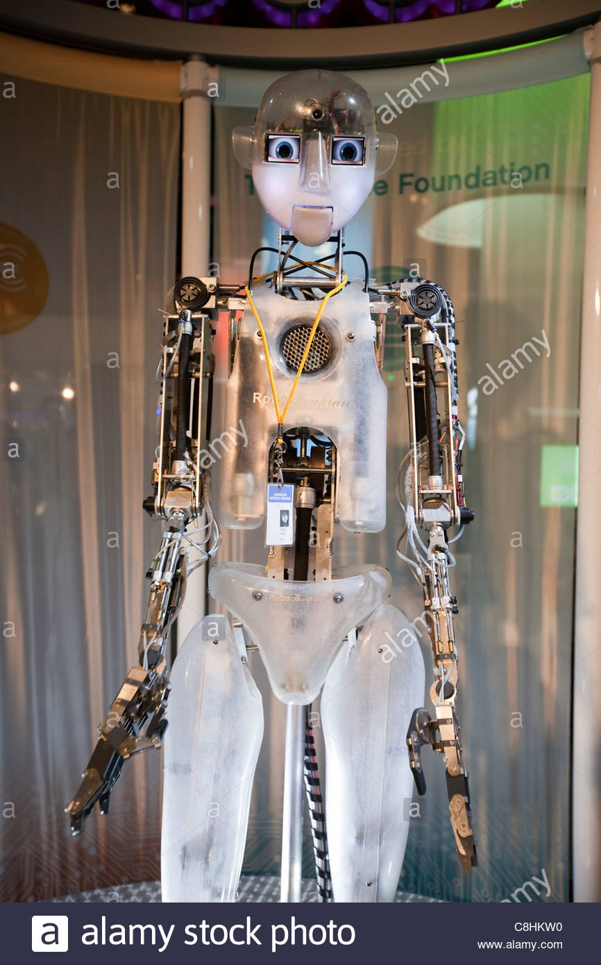'Robo Thespian' at the Carnegie Science Museum robot exhibit. - Stock Image