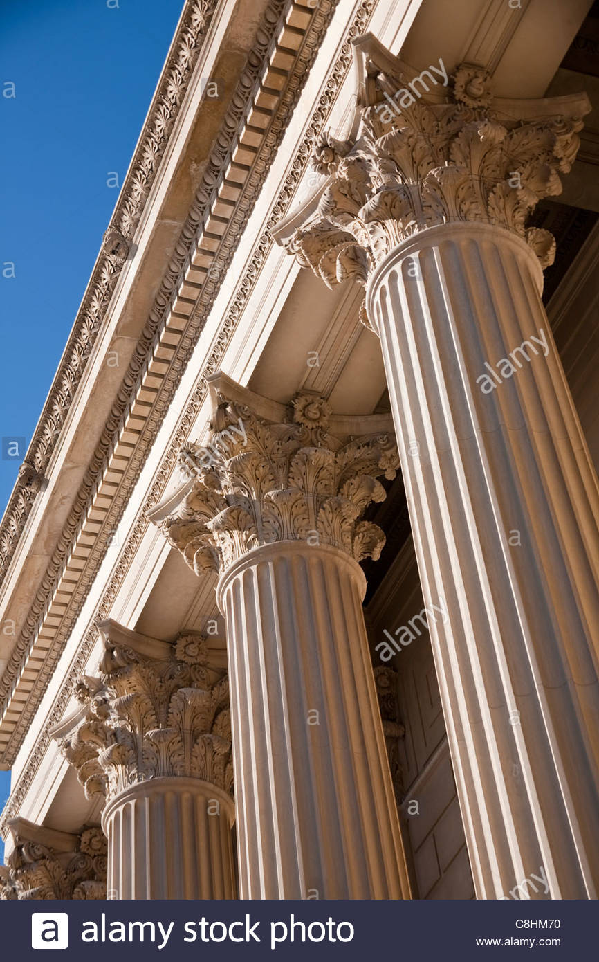 The U.S. National Archives Building exterior. - Stock Image