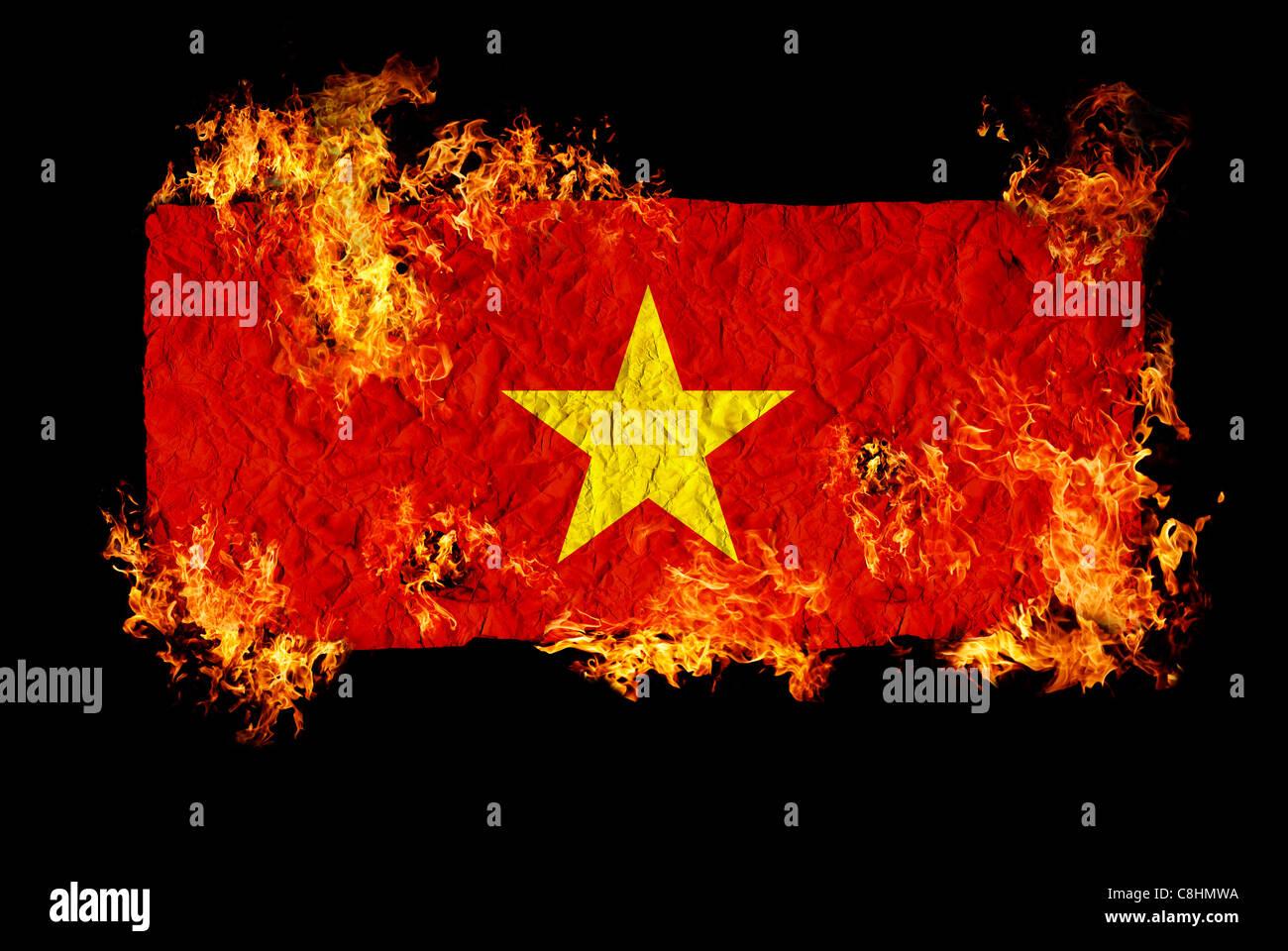 National Symbols And Flag Of Vietnam Stock Photo 39727558 Alamy
