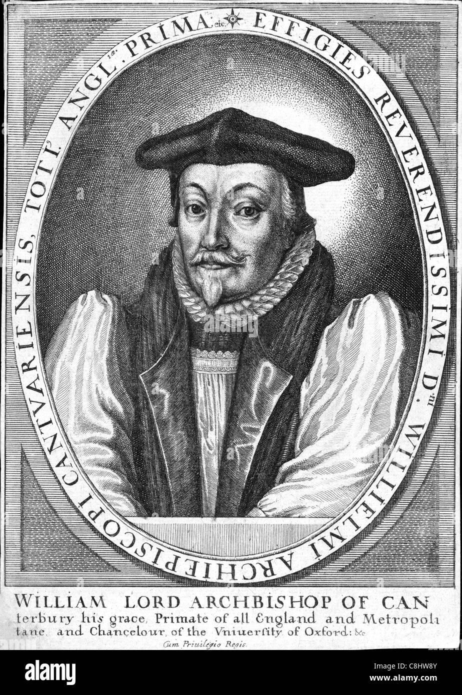 WILLIAM LAUD (1573-1645)  Archbishop of Canterbury - Stock Image