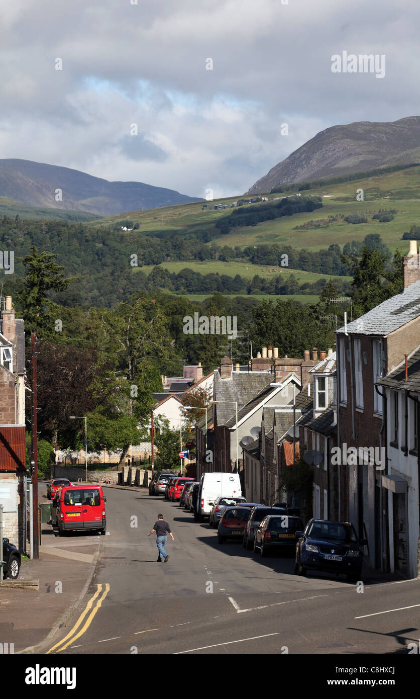 The town of centre of Crieff in Perthshire, Scotland, UK - Stock Image