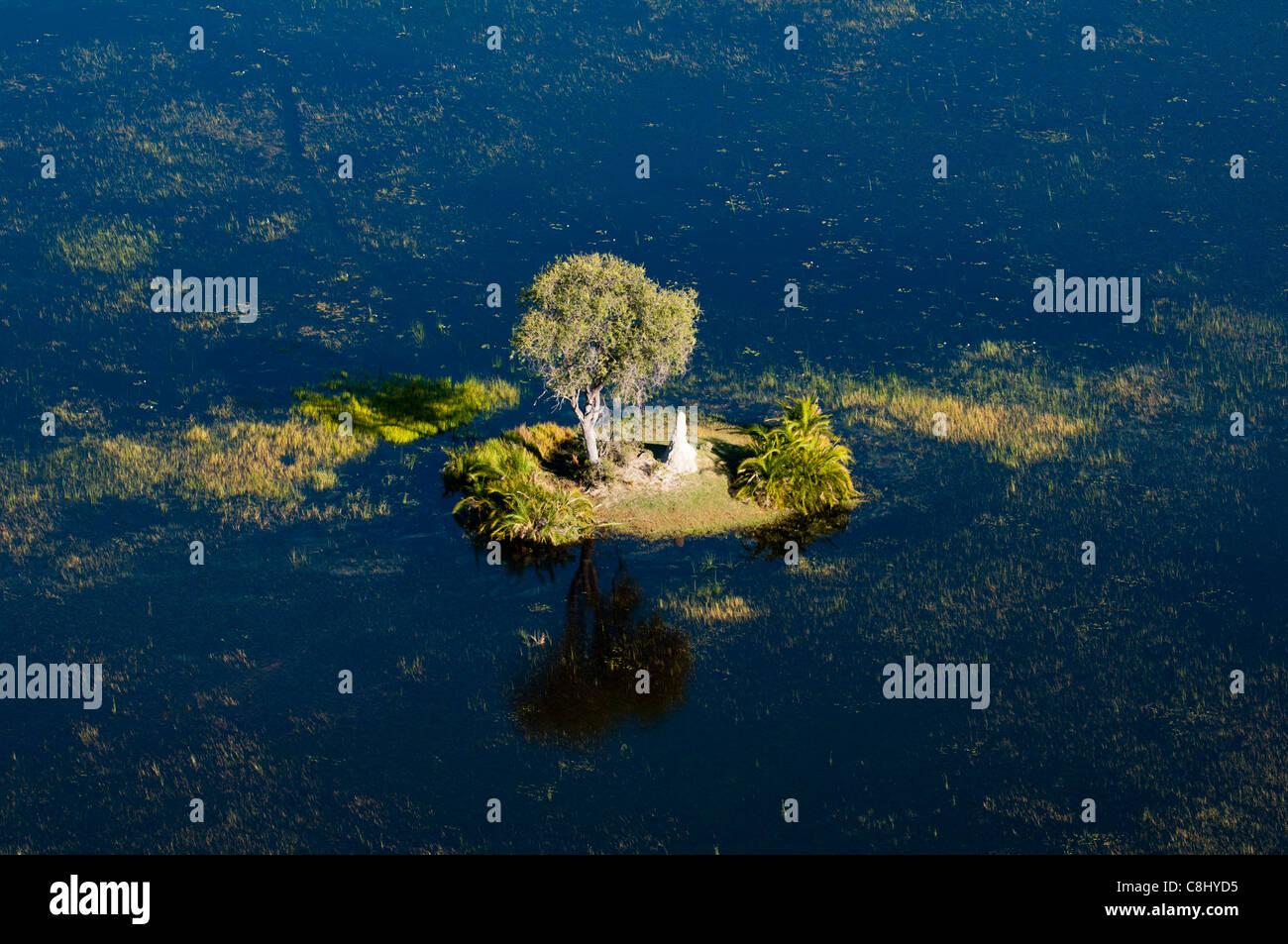 Aerial view of Okavango Delta, Botswana. - Stock Image