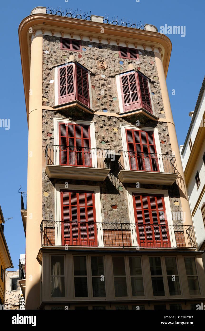 Casa de las Medias, Carrer de Colom, Palma, Mallorca, Spanien.   Casa de las Medias, Carrer de Colom, Palma, Majorca, Stock Photo