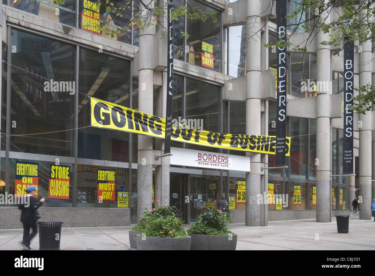 borders bookstore boston massachusetts Stock Photo: 39734269