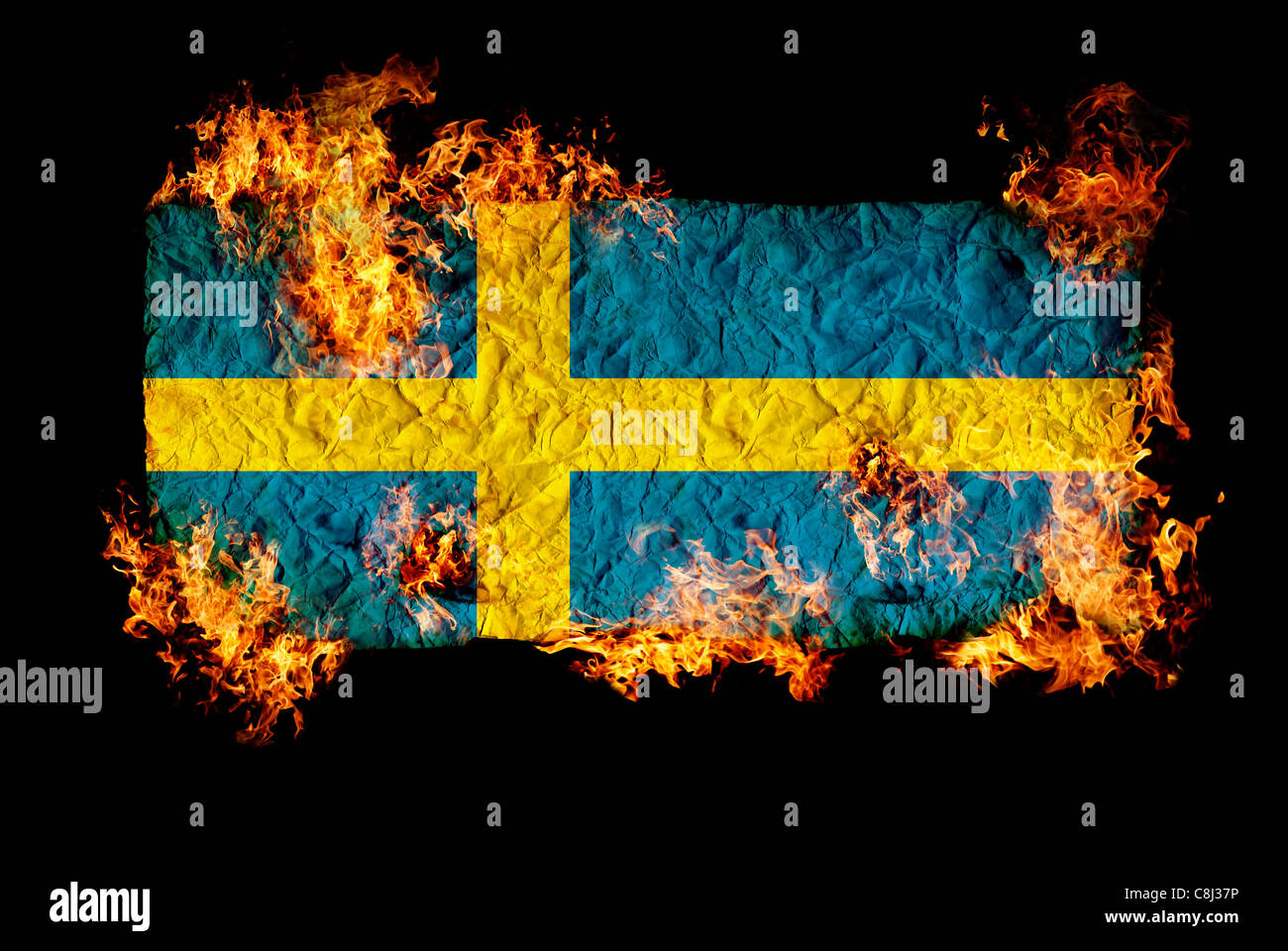 National Symbols And Flag Of Sweden Stock Photo 39735690 Alamy
