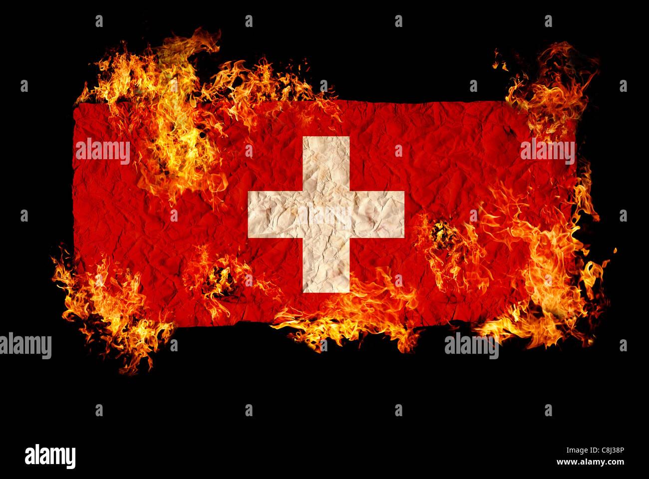National Symbols And Flag Of Switzerland Stock Photo 39735718 Alamy