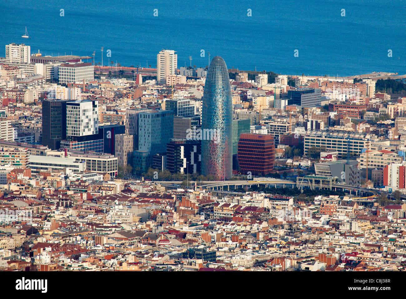 Spain, Europe, Barcelona, Glorias, Akbar Tower, architecture - Stock Image