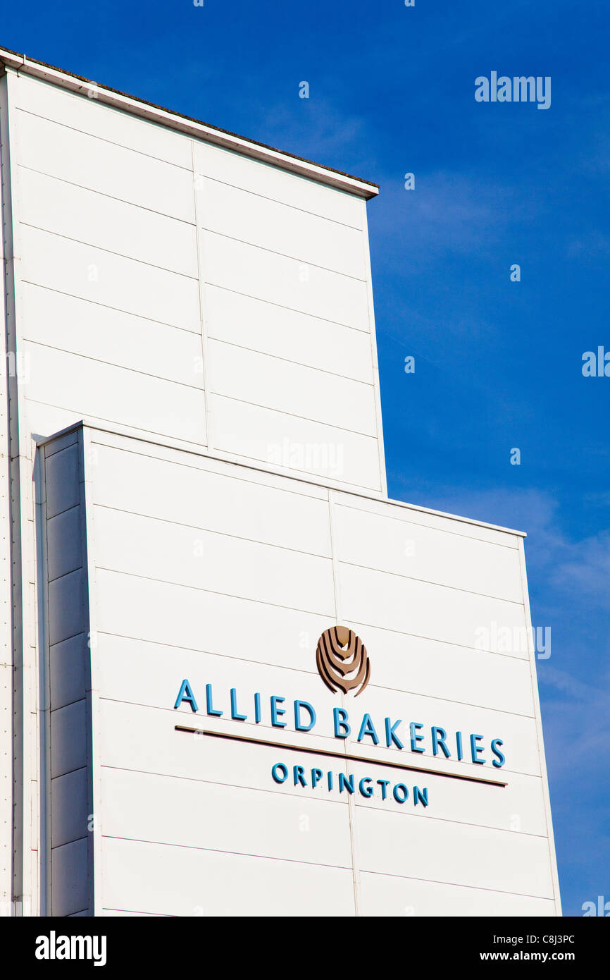 Allied Bakeries bread factory, Oprington, Kent, UK - Stock Image