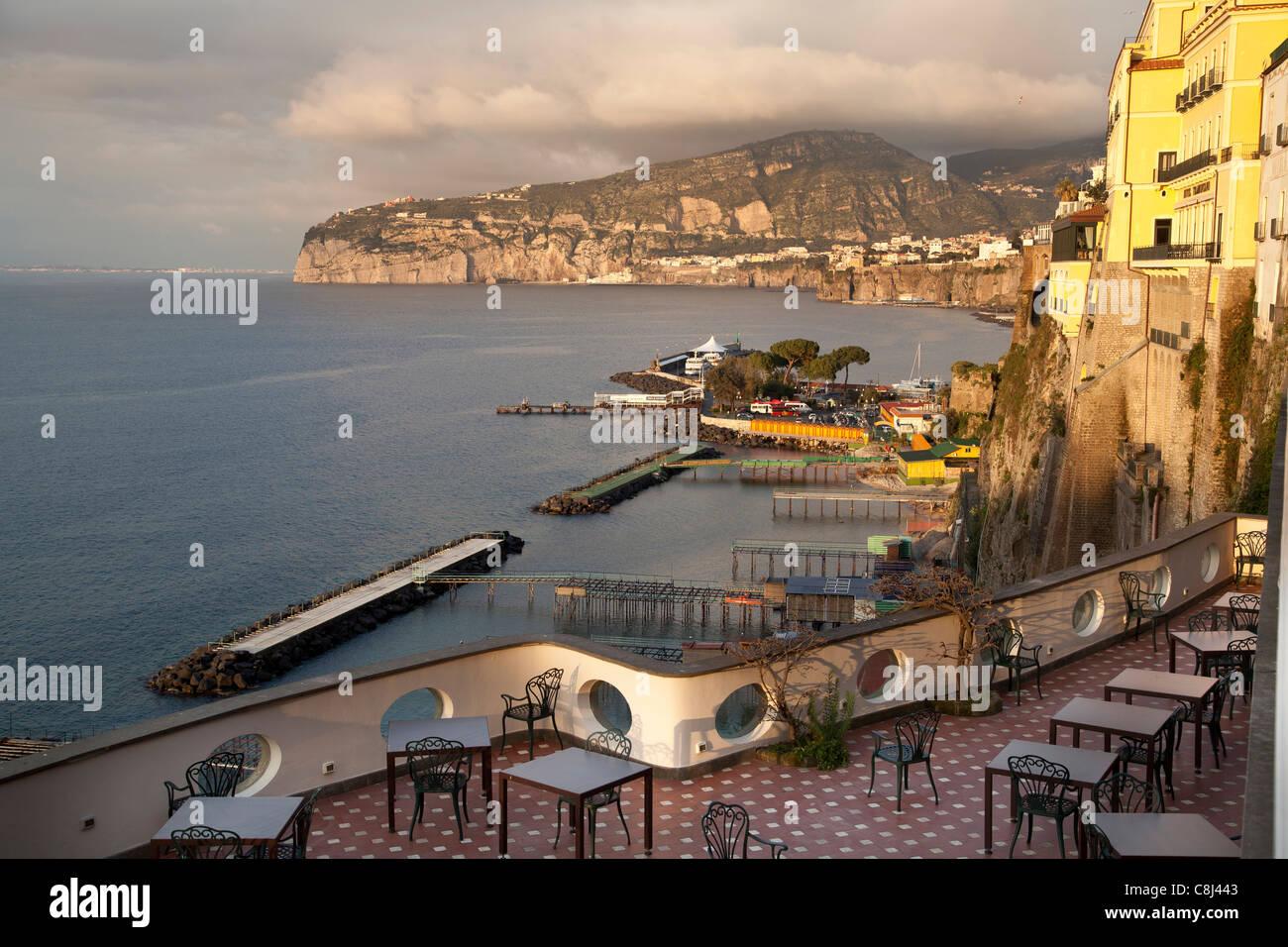 Ausblick, Bellevue Syrene, Hotel, Italien, Luxus, Luxushotel, Sorrent - Stock Image