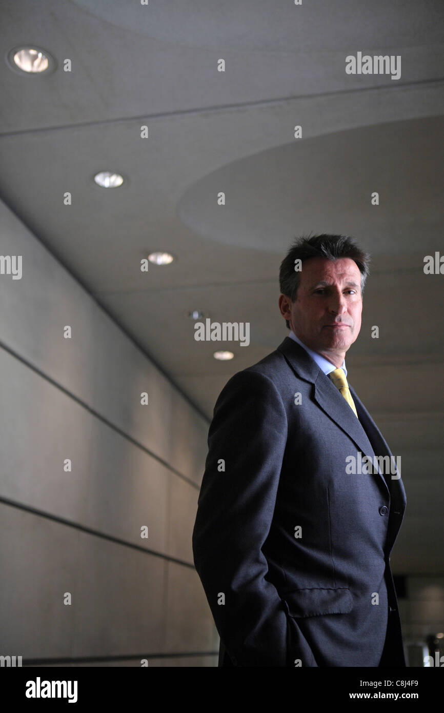 Baron Sebastian Newbold Coe, Lord Seb Coe, Chairman of the London Organizing Committee for the Olympic Games - Stock Image