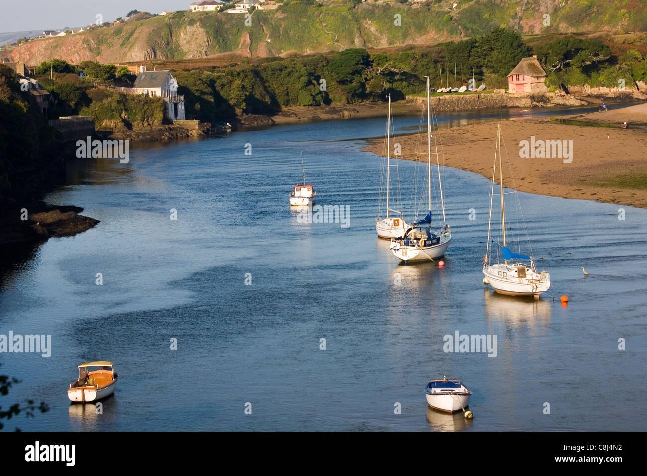 River Avon at Bantham in the South Hams, Devon - Stock Image