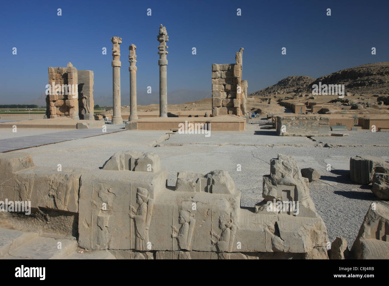 Persepolis, Persia, Iran, Islamic Republic of Iran, Central Asia, West Asia, Fars, Ernst Herzfeld, archaeological Stock Photo