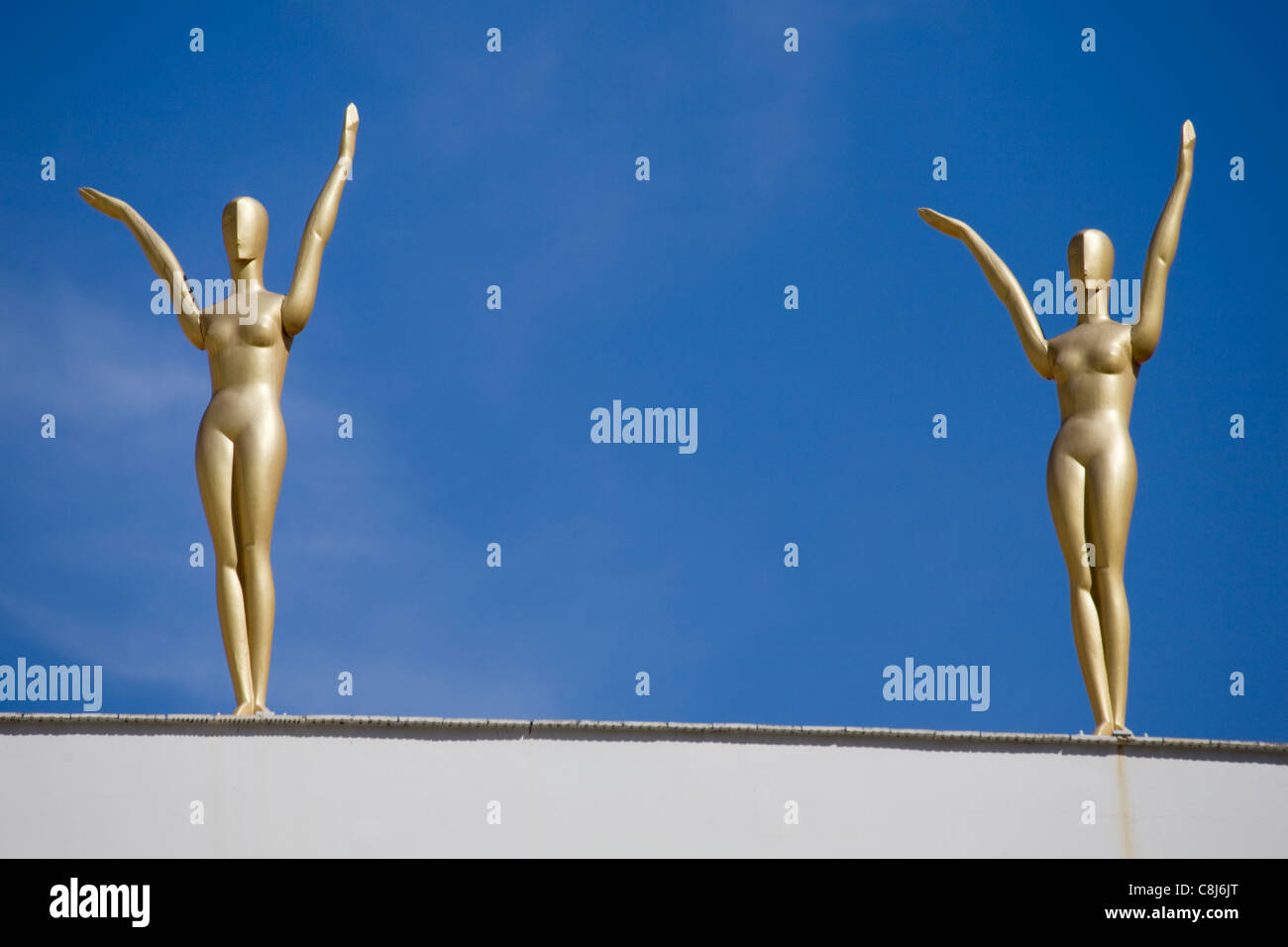 Sculptures on the Teatre-Museu Dali, Figueres, Catalonia, Spain - Stock Image