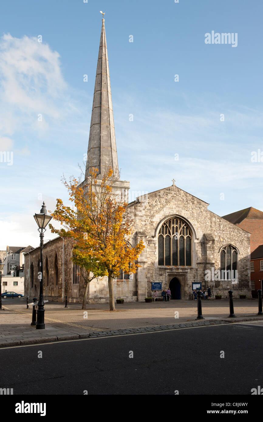 St Michael's Church, Southampton, Hampshire, England,UK. - Stock Image