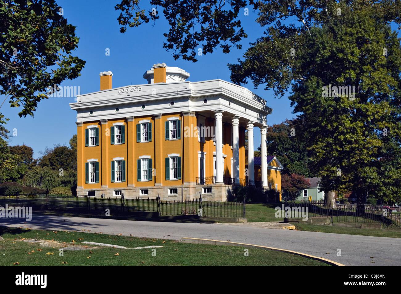 Lanier Mansion in Madison, Indiana - Stock Image