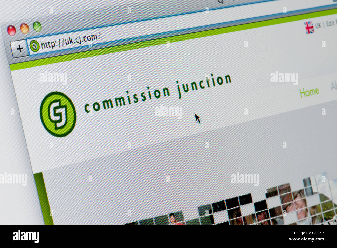 Close up of the Commission Junction logo as seen on its website. (Editorial use only: print, TV, e-book and - Stock Image