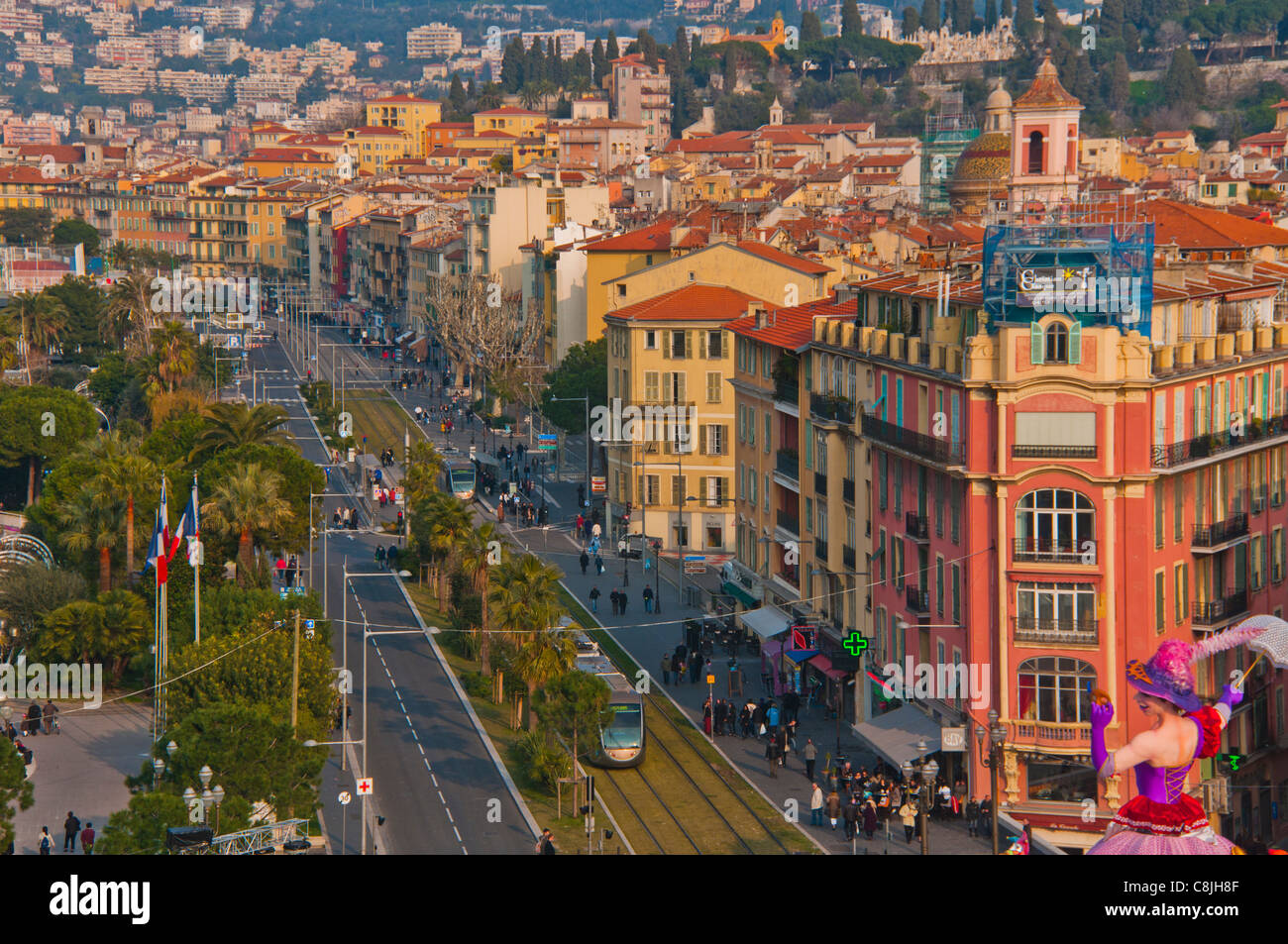 nice france cityscape center old town aerial daytime stock photo 39746687 alamy. Black Bedroom Furniture Sets. Home Design Ideas