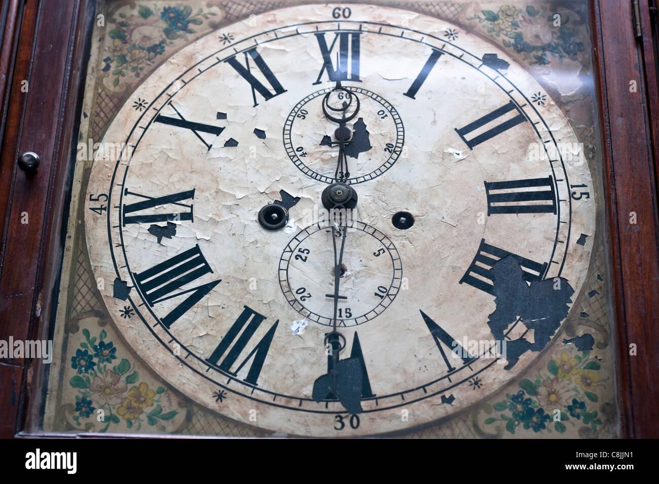 Antique clock face detail. - Stock Image