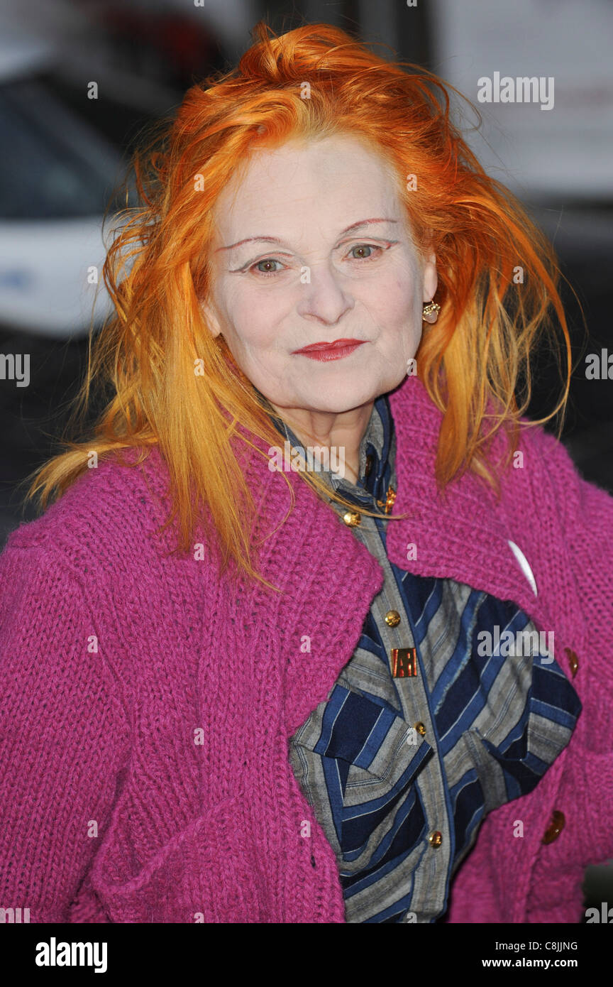 Vivienne Westwood attends the premiere of 'The Age of Stupid' in Leicester Square, London, 15th March 2009. - Stock Image