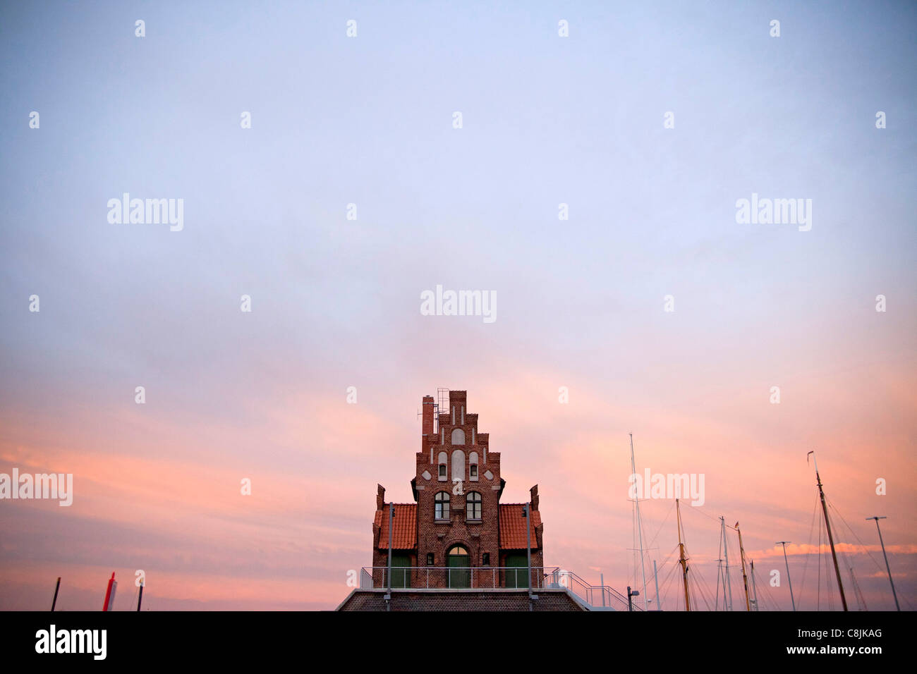 building of the Maritime pilots in the Hanseatic City of Stralsund, Mecklenburg-Vorpommern, Germany - Stock Image