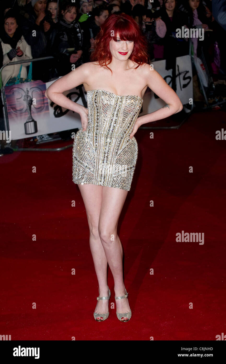 Florence Welch arrives for the 'Brit Awards' at Earls Court, London, 16th February 2010. - Stock Image