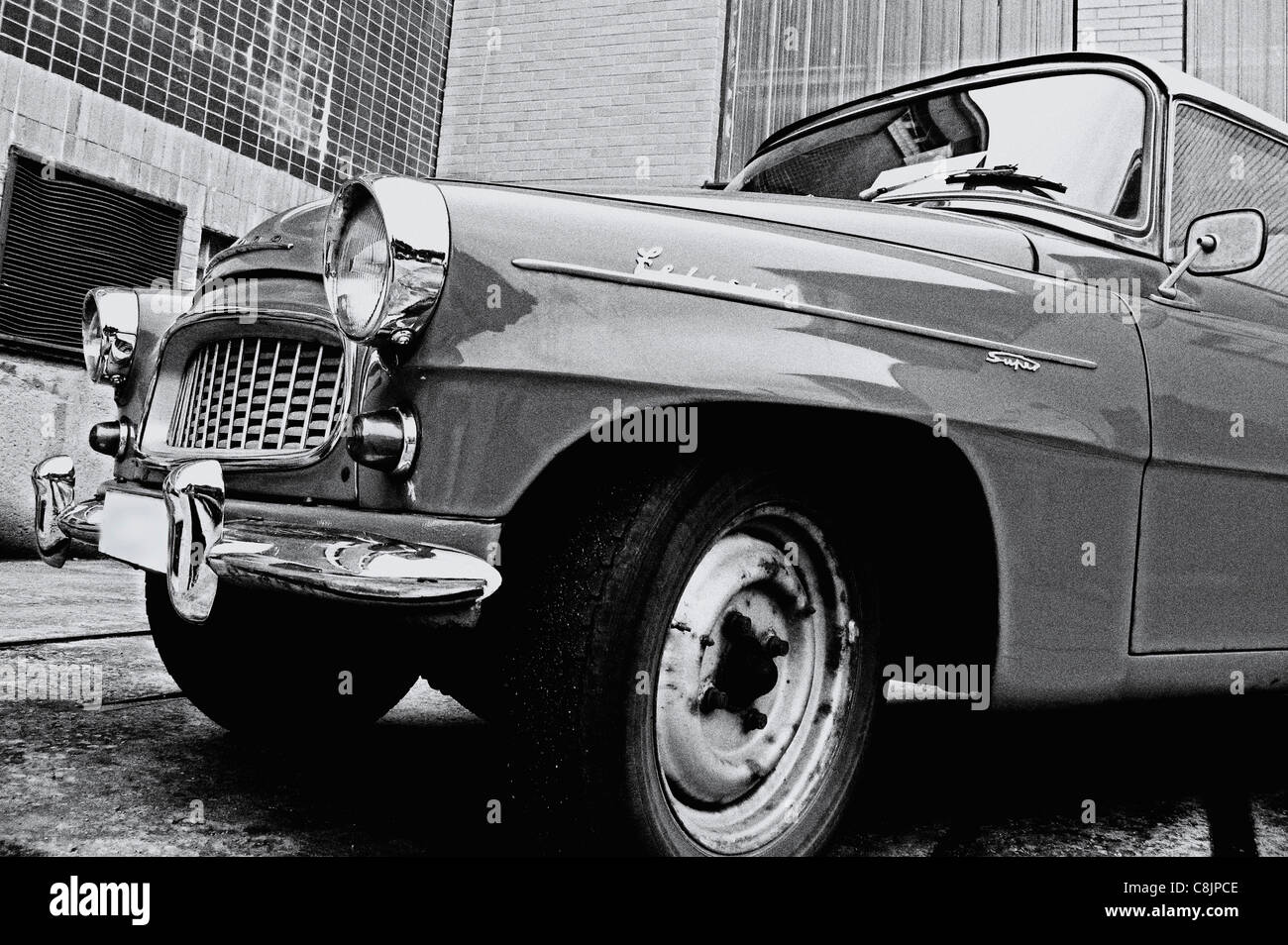 vintage skoda felicia car - Stock Image