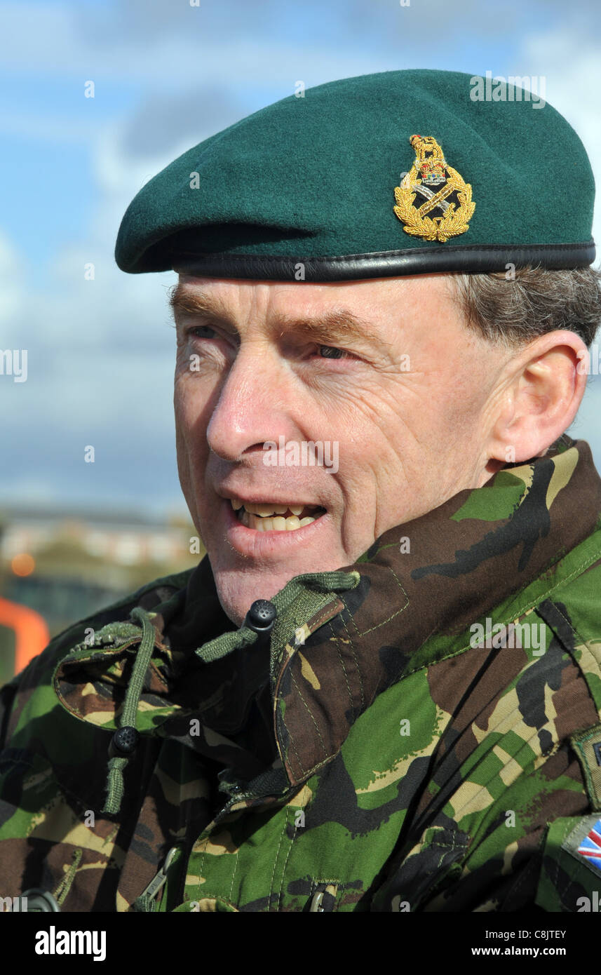 Commandant General Royal Marines Buster Howes. - Stock Image