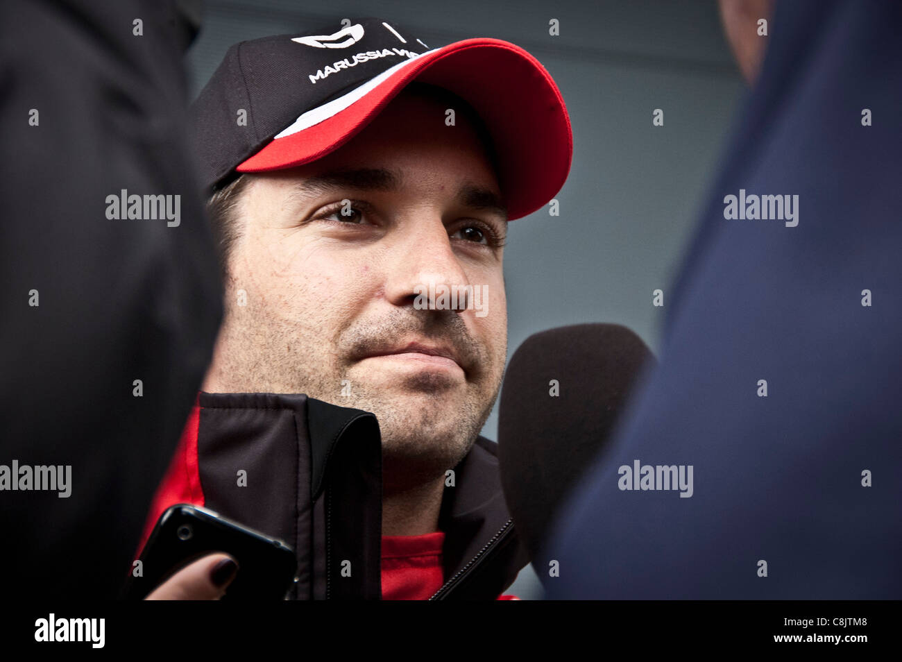 Formula 1 driver Timo Glock of the Virgin Racing team, silverstone, 2011 - Stock Image