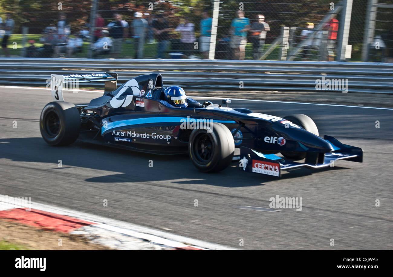 Josh Hill, son of Formula One legend Damon Hill, Formula Renault Championship, Brands Hatch Motor Racing Circuit - Stock Image