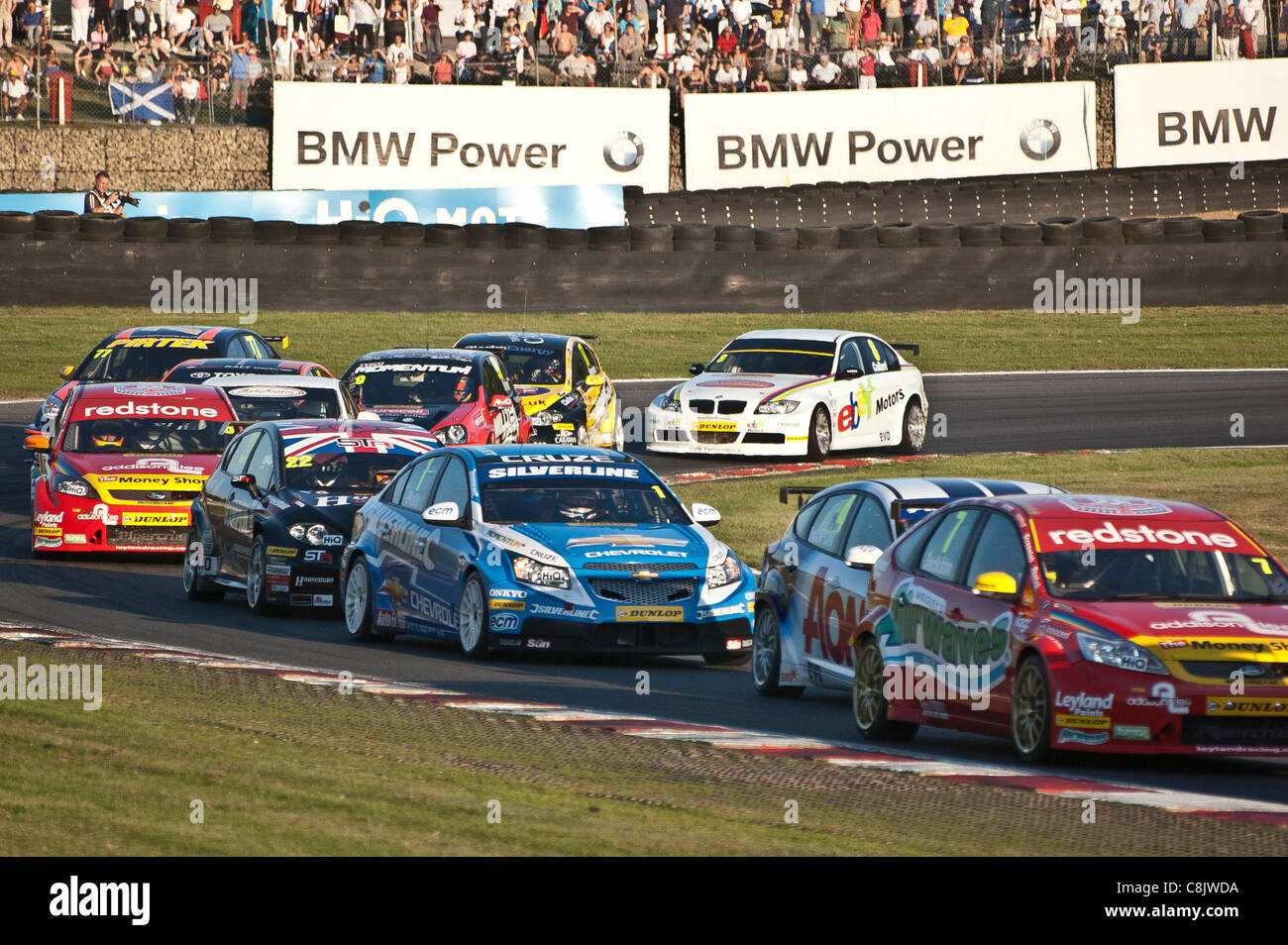 British Touring Car Championship action at Brands Hatch - Stock Image