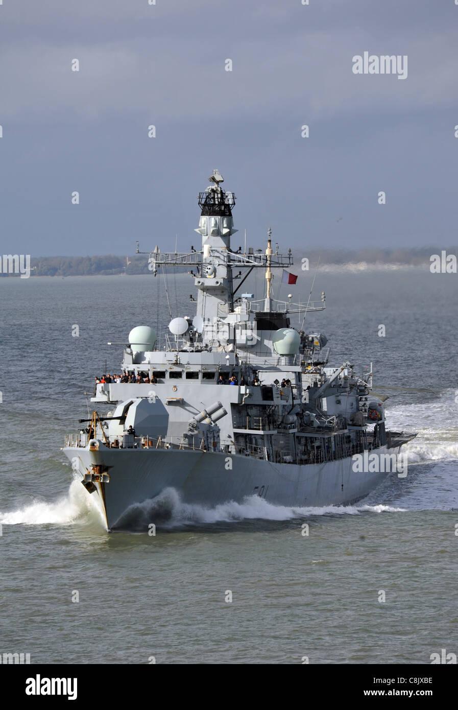 HMS Sutherland of the British Royal Navy. - Stock Image