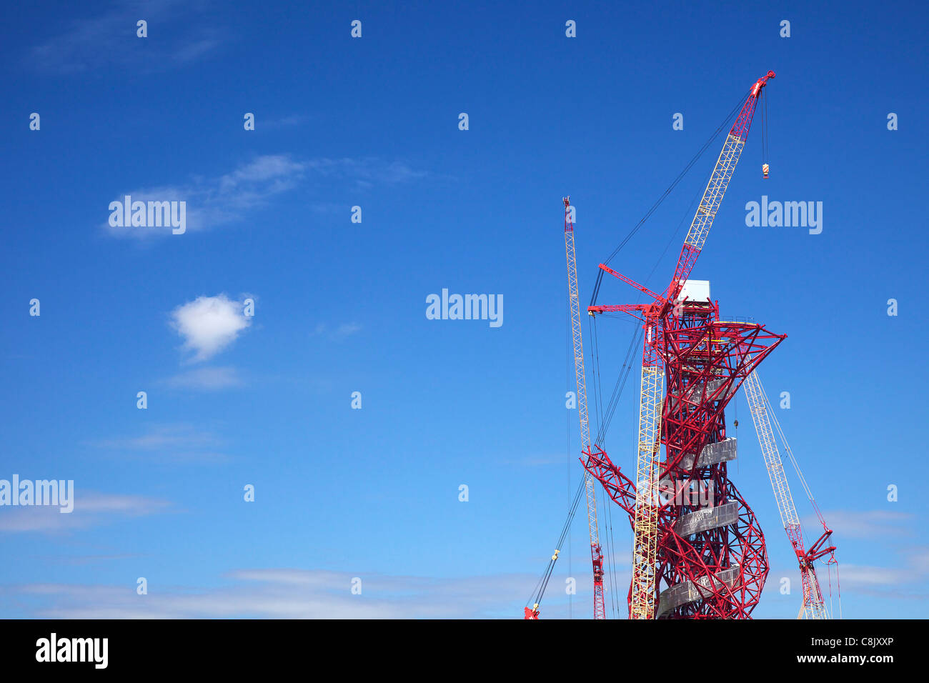 ArcelorMittal Orbit, by Anish Kapoor, Olympic Park, Stratford, East End, London, England, UK, United Kingdom, GB, - Stock Image
