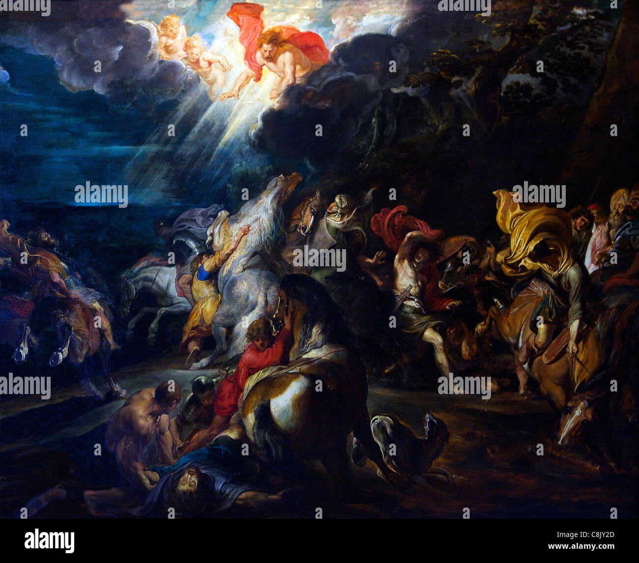 The Conversion of St Paul, by Peter Paul Rubens, 1610-12, Courtauld Galleries, Somerset House, London, England, - Stock Image