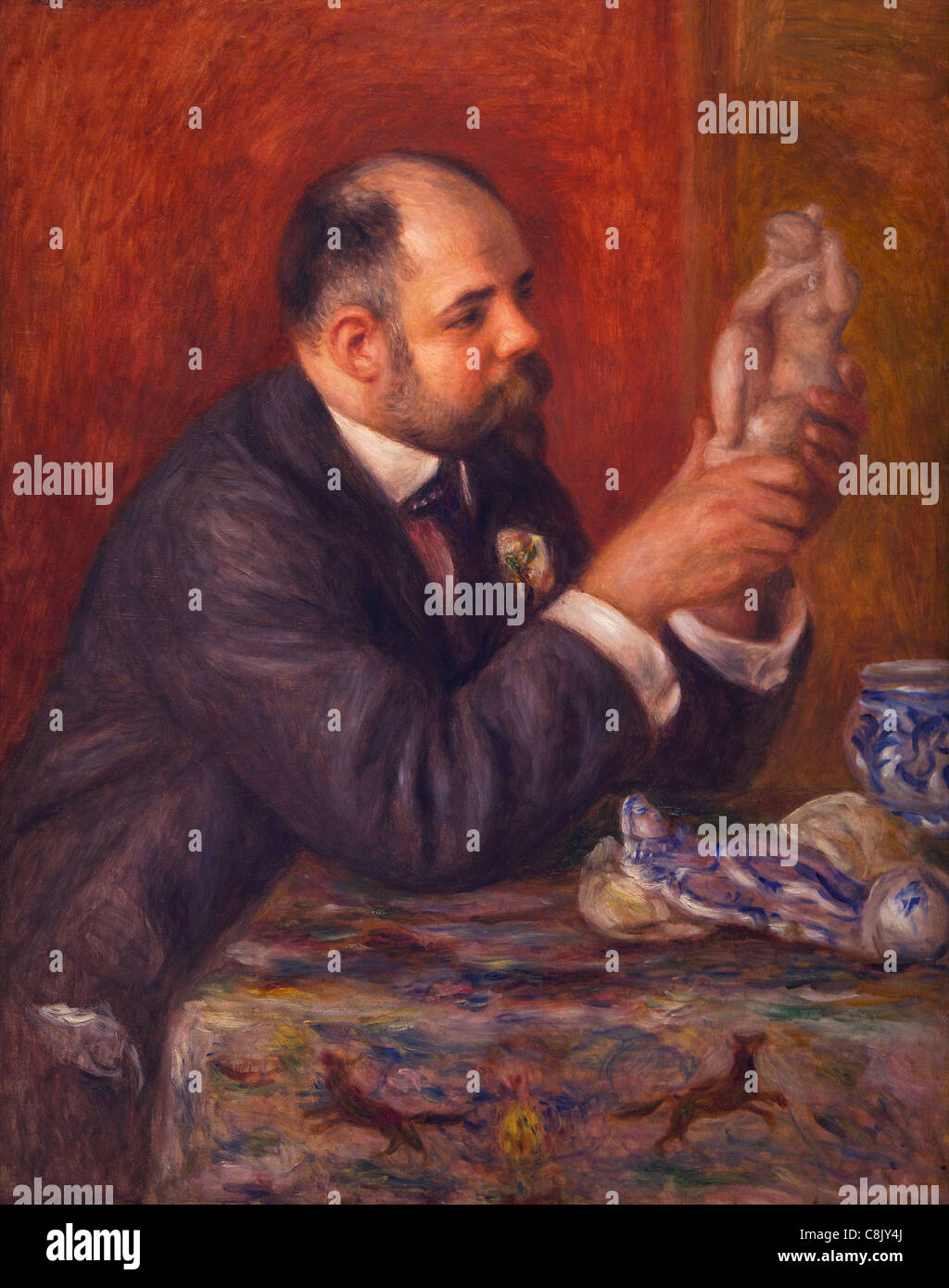 Portrait of Ambrose Vollard, by Pierre-Auguste Renoir, 1908, Courtauld Galleries, Somerset House, London, England, - Stock Image